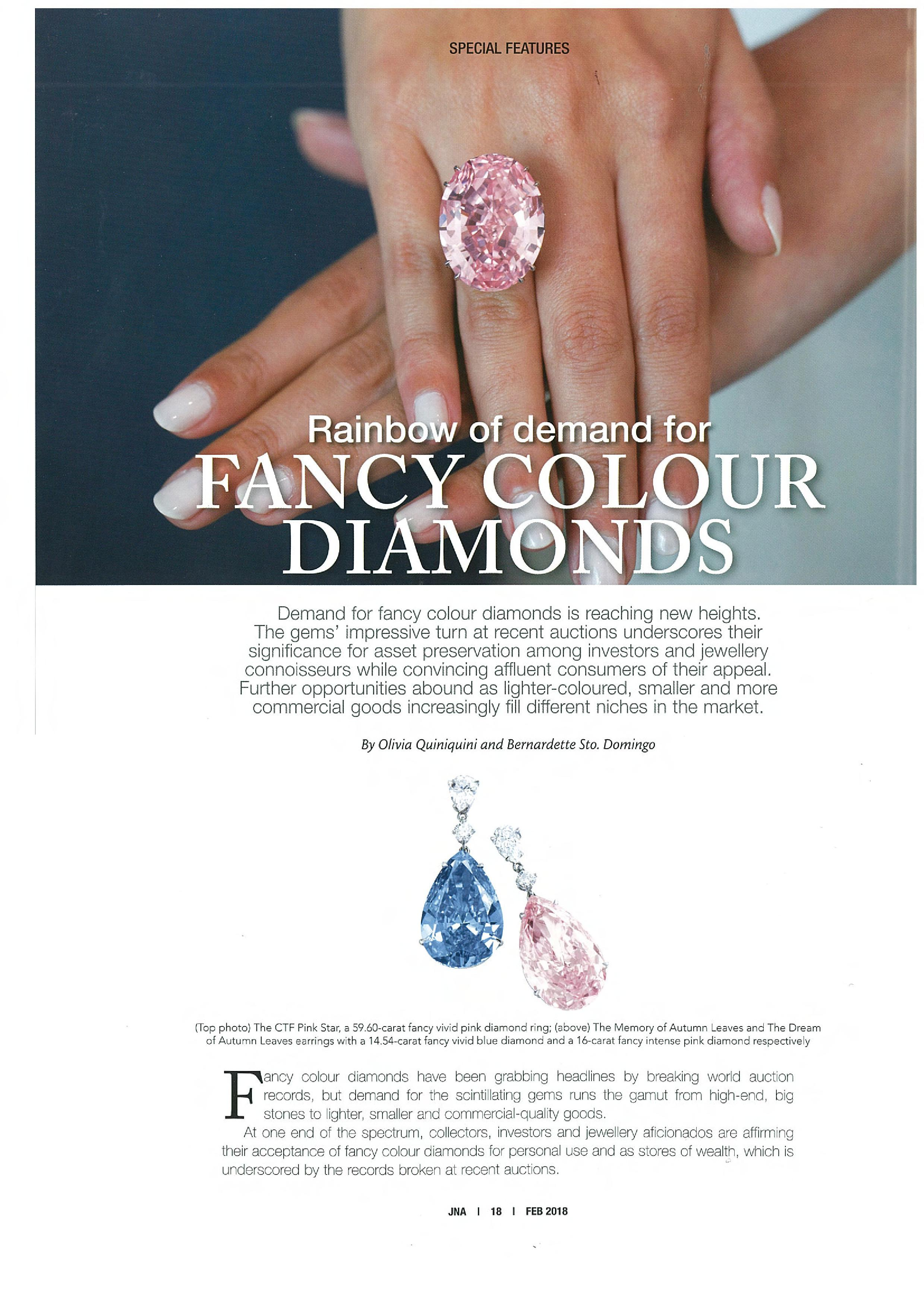 Dehres | Rainbow of Demand for Fancy Colour Diamonds